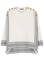 Alexander Mcqueen Two Tone Buttoned Cashmere Jumper Grey