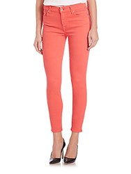 7 For All Mankind Slim Illusion Skinny Jeans Cherry Red