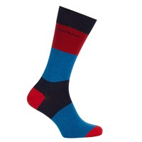 Barbour Cleadon Stripe Socks Red Blue
