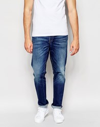 Esprit Straight Fit Jeans In Midwash Blue Blue
