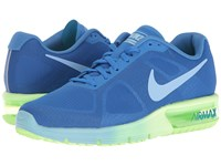 Nike Air Max Sequent Fountain Blue Ghost Green Bluecap Women's Running Shoes