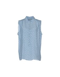 M.Grifoni Denim Topwear Tops Women Sky Blue