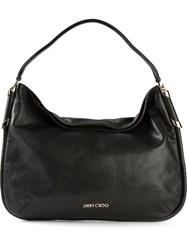 Jimmy Choo 'Zoe' Hobo Shoulder Bag Black