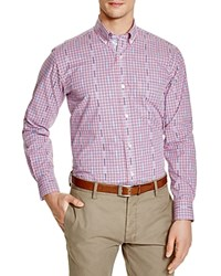 Tailorbyrd Check Classic Fit Button Down Shirt Fuchsia