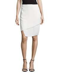 J Brand Ready To Wear Asymmetric Layered Skirt White