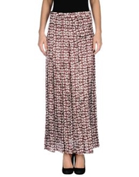 Marni Long Skirts Maroon