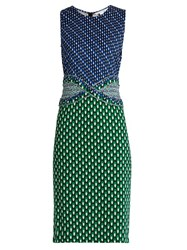 Diane Von Furstenberg Evita Dress Green Multi