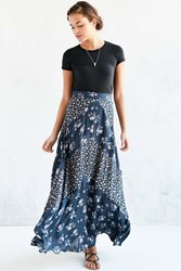 Kimchi And Blue Kimchi Blue Mitered Floral Maxi Skirt Navy