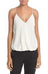 Theory Women's 'Kashya' Drape Front Silk Georgette Camisole Off White
