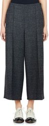 Lanvin Prince Of Wales Crop Trousers Grey