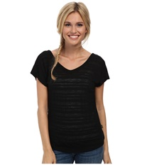 Smartwool Burnout Reversible Tee Black Women's Short Sleeve Pullover