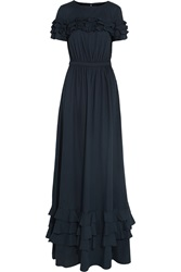 Love Moschino Ruffled Cotton And Wool Blend Maxi Dress