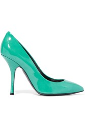 Giuseppe Zanotti Patent Leather Pumps Green