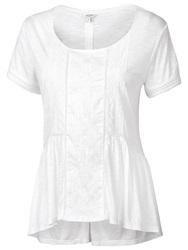 Fat Face Porth Peplum Tee White