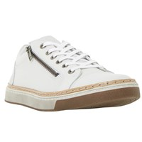 Dune Thor Lace Up Trainer White