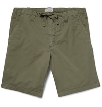 Hartford Cotton Shorts Army Green