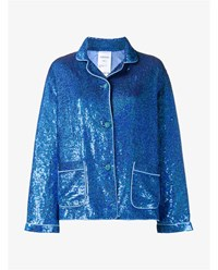 Ashish Sequin Embellished Pyjama Shirt Blue