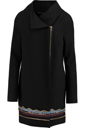 Roland Mouret Aphid Embellished Wool Blend Coat