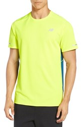 New Balance Men's 'Ice' Athletic Training Shirt Fire Fly
