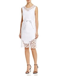 Magaschoni Sleeveless Shirt Dress Blanc