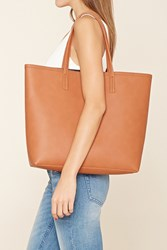 Forever 21 Structured Faux Leather Tote