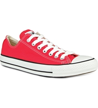 Converse All Star Ox Low Trainers Red Canvas