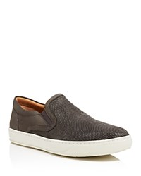 Vince Ace Embossed Slip On Sneakers Carbon