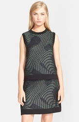 M Missoni Graphic Knit Sleeveless Top Mint Black