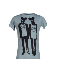 5Preview Topwear T Shirts Men Sky Blue