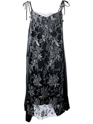 Antonio Marras Embellished Lace Overlay Shift Dress Black