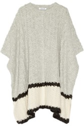 Elizabeth And James Textured Knit Wrap Light Gray