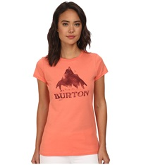 Burton Stamped Monument S S Fresh Salmon Women's T Shirt Orange