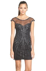 Women's Sean Collection Embellished Mesh Sheath Dress
