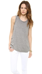 Current Elliott The Muscle Tee Heather Grey
