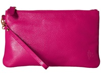 Mighty Purse Coated Cow Leather Wristlet Poppy Pink Wristlet Handbags