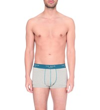 Ted Baker Contrast Trim Stretch Cotton Boxers Grey
