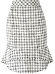 Alexander Wang Tweed Pencil Skirt White