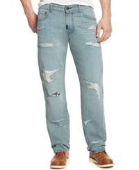 Lrg Big And Tall Distressed Straight Leg Jeans Damaged Grey