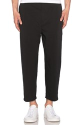 Helmut Lang Cropped Pleated Trouser Black