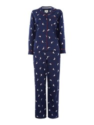 Dickins And Jones Goose Wellington Pj Set Navy