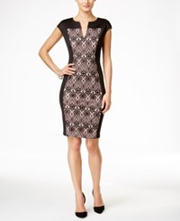 Connected Lace Panel Sheath Dress