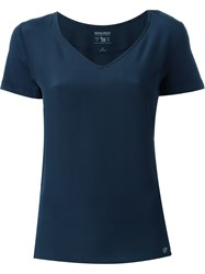 Woolrich V Neck T Shirt Blue