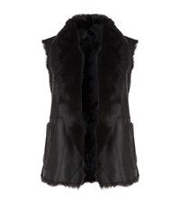 Vince Reversible Shearling Gilet Female Black