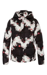 Emilio Pucci Floral Down Jacket Black White Red