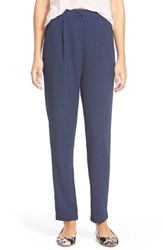Junior Women's Lily White High Rise Trousers Navy