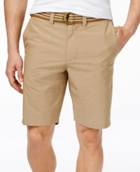 American Rag Micro Stripe Shorts Only At Macy's Dull Gold