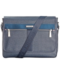 Tommy Hilfiger Darren Flap Messenger Bag Navy Black