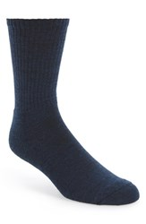 Smartwool Men's 'New Heathered' Ribbed Crew Socks Navy