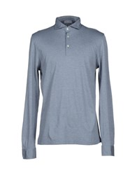 Gran Sasso Topwear Polo Shirts Men Dark Blue