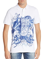Just Cavalli Graphic Cotton Polo Shirt White